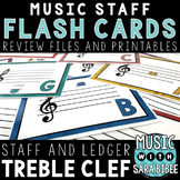 Music Flash Cards- Treble Clef- Digital With Printout Option