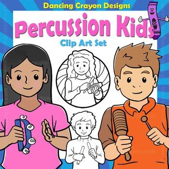 Music Kids: Percussion Clip Art