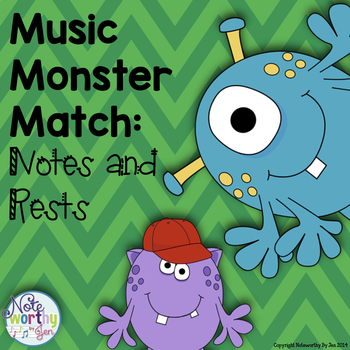 https://www.teacherspayteachers.com/Product/Music-Monster-Match-Notes-and-Rests-1276089