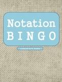 Music Notation Bingo Game