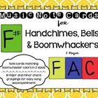 Music Note Cards for Handchimes,Bells,Boomwhacker