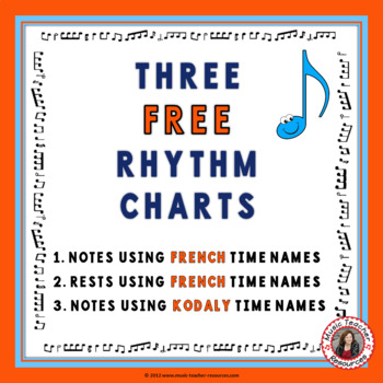 Music: Rhythm Chart (North American Terminology)