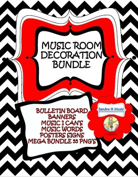 MUSIC DECOR *Posters, Banners, Bulletin Board, I Can State