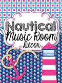 Music Room Decor Kit {Nautical Theme}