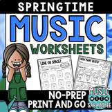 Music Spring Activities- Mega Pack- 35 Activities! 54 Pages