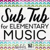 Music Sub Plans Bundle with Games