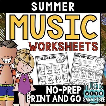 Music Summer Mega Pack- 68 Worksheets!