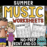 Music Summer Mega Pack- 68 Worksheets!