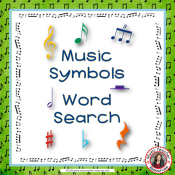 Music Symbols: Word Search