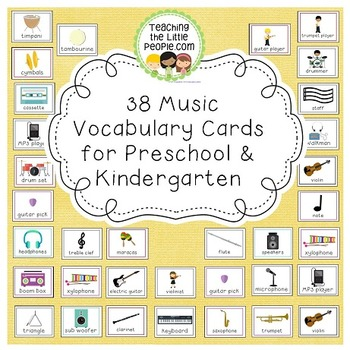 Music Vocabulary Cards for Preschool and Kindergarten Image