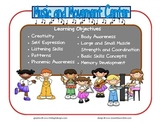 Music and Movement Learning Center Sign~ With Objectives