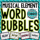 Musical Element Word Bubbles