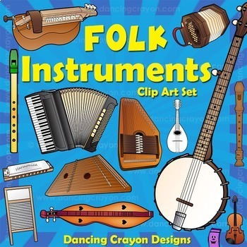 Musical Instruments: Folk Instruments Clip Art