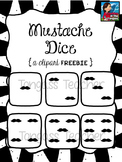 Mustache Dice Clipart Freebie