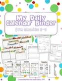 {My Daily Calendar Math Binder} Grades 3-5