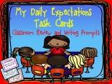 """""""My Daily Expectations"""" Task Cards:Review Activity & Writi"""