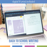 'My Favorite' Back To School Writing Activity