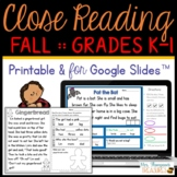 My First Close Reading - Fall