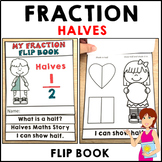 My Fraction Book Halves 10 pages of fraction activities Fo