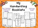 My Handwriting Booklets for Preschool or Kindergarten