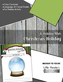 Holiday Fun - Holiday Activity - Writing Activity - Snow Globe - Journal Writing
