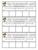 My Homework Card - 1 page