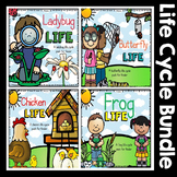 My Life Cycle Bundle - 4: Butterfly, Ladybug, Chicken, and Frog