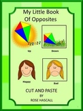 Cut and Paste  My Little Book Of Opposites,