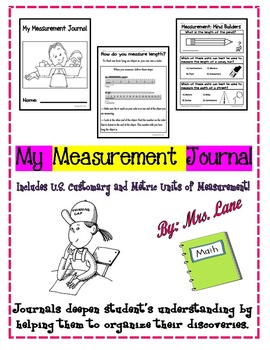 My Measurement Journal (Includes U.S. Customary and Metric
