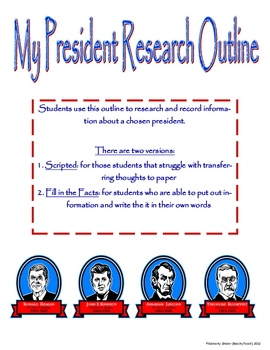 My President Research Outline
