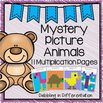 Mystery Picture Animals {Multiplication}
