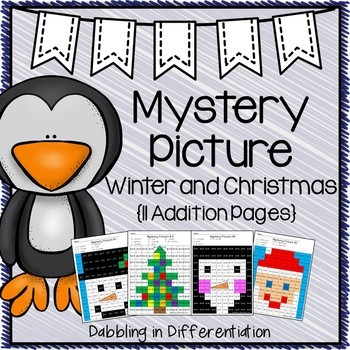 Christmas Math Mystery Picture {Addition}