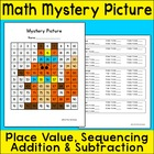 Free Math Mystery Picture - Winter Fox