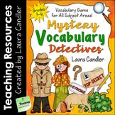 Vocabulary Game (Mystery Vocabulary Detectives)