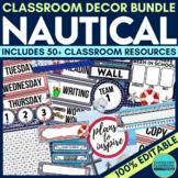 NAUTICAL Classroom Theme EDITABLE Decor 34 Printable Produ