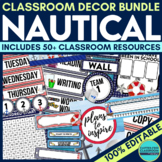 NAUTICAL Classroom Theme EDITABLE Decor 34 Printable Produ
