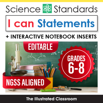 NGSS Posters for Middle School Science Standards I Can Statements