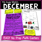 NO PREP MATH Centers for December {4th Grade}