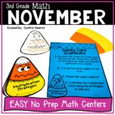 NO PREP MATH Centers for November {3rd Grade}