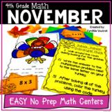NO PREP MATH Centers for November {4th Grade}