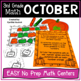 NO PREP MATH Centers for October {3rd Grade}
