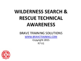 NFPA WILDERNESS TECHNICAL SEARCH & RESCUE