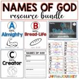 Names of God Alphabet Cards