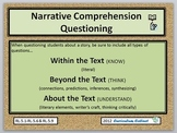 Narrative Comprehension Questioning  CCSS Reading and Literature
