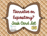 Narrative vs. Expository Task Cards