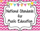 National Standards for Music Education-Chevron Background