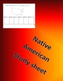 Native American Tribe Table
