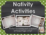Nativity Math and Literacy Activities