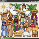Nativity (Christian Christmas Clip Art & Line Art)