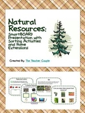 Natural Resources Meet our Needs!